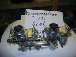 Vergaseranlage für Opel